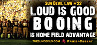 loud is good booing is home field advantage