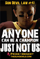 anyone can be a champion just not us