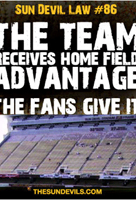 the team receives home field advantage the fans give it